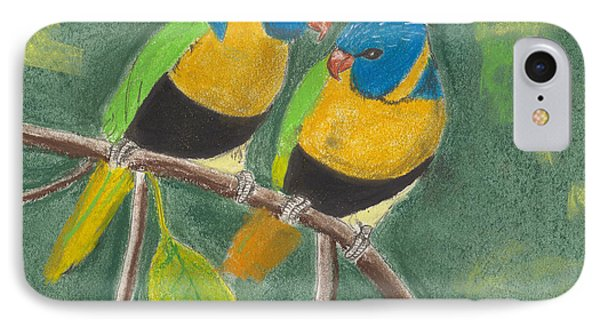 Love Birds IPhone Case by David Jackson