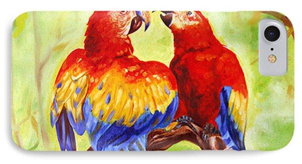 Love Birds  IPhone Case by Ragunath Venkatraman
