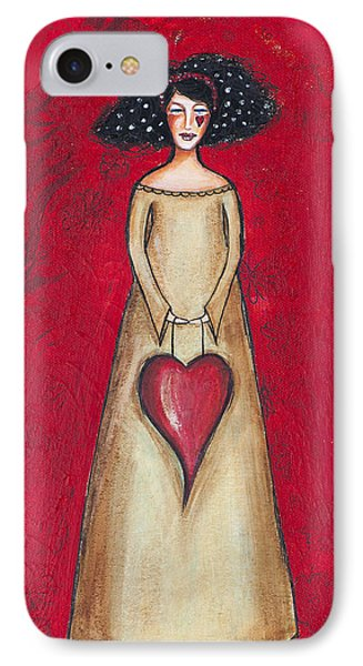 IPhone Case featuring the mixed media Love Bringer by Stanka Vukelic