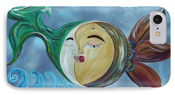 IPhone Case featuring the painting Love Connect - You Are My Moon And Sun by Eloise Schneider