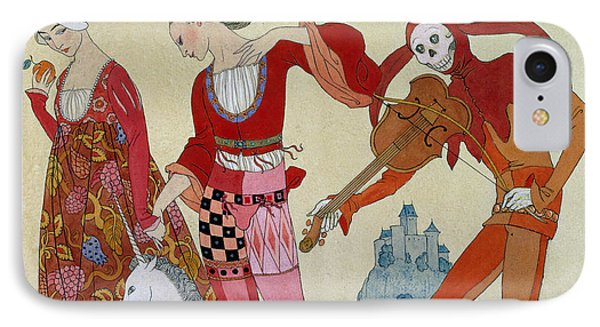 Love Desire And Death IPhone Case by Georges Barbier