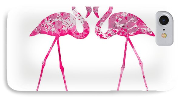 Love Flamingos IPhone Case by Luke and Slavi