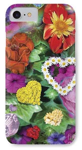 Love Flowers Garden Phone Case by Alixandra Mullins