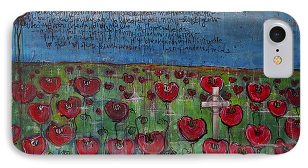 Love For Flanders Fields Poppies Phone Case by Laurie Maves ART