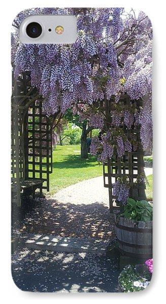 Love Forever Flowers Gate... IPhone Case by Hanna Laws