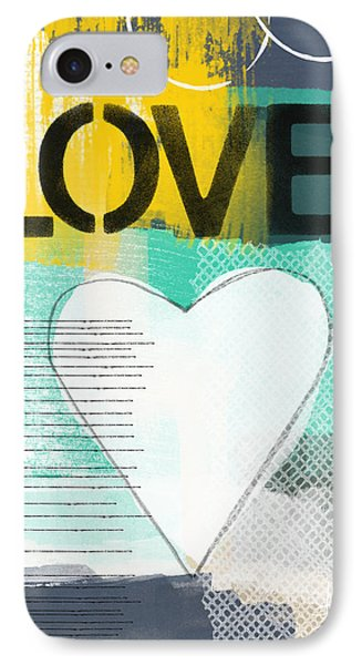 Love Graffiti Style- Print Or Greeting Card IPhone Case by Linda Woods