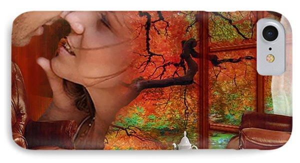 IPhone Case featuring the digital art Love In Autumn - Digital Art By Giada Rossi by Giada Rossi