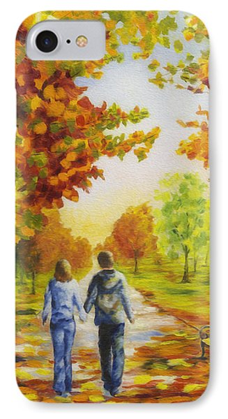 Love In Autumn IPhone Case by Veikko Suikkanen
