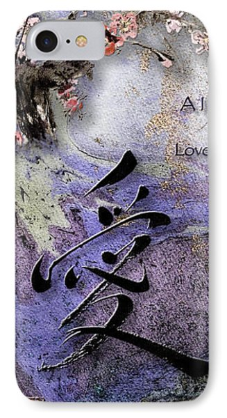 Love Ink Brush Calligraphy IPhone Case by Peter v Quenter
