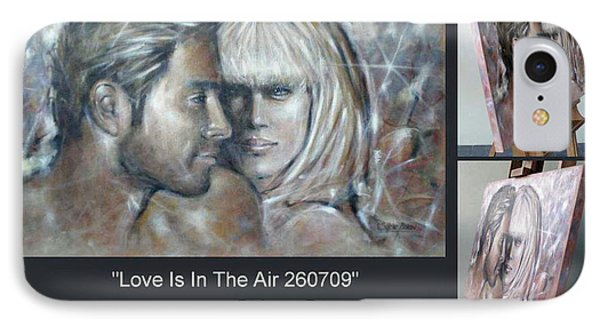 IPhone Case featuring the painting Love Is In The Air 260709 Comp by Selena Boron