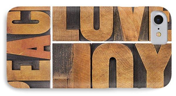 Love Joy And Peace IPhone Case by Marek Uliasz