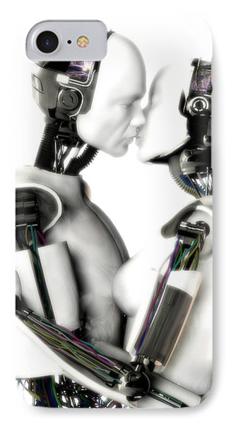 Love Machines - 1st Base IPhone Case by Frederico Borges