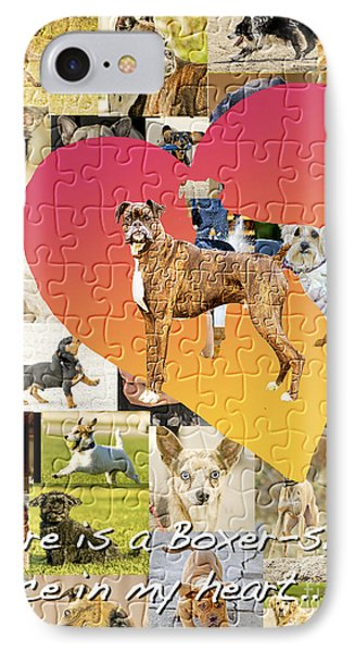 Love Of Boxers Phone Case by Judy Wood