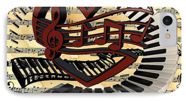 Love Of Music  IPhone Case by Louis Ferreira