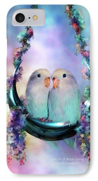 Love On A Moon Swing IPhone Case by Carol Cavalaris