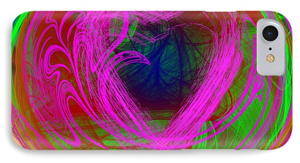 IPhone Case featuring the digital art Love Over Chaos by Clayton Bruster