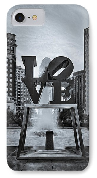 Love Park Bw IPhone Case by Susan Candelario