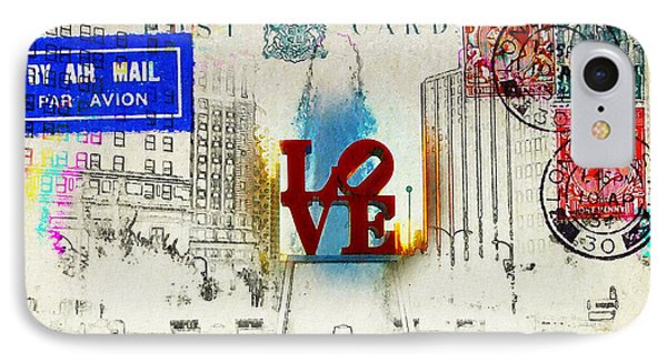 Love Park Post Card Phone Case by Bill Cannon