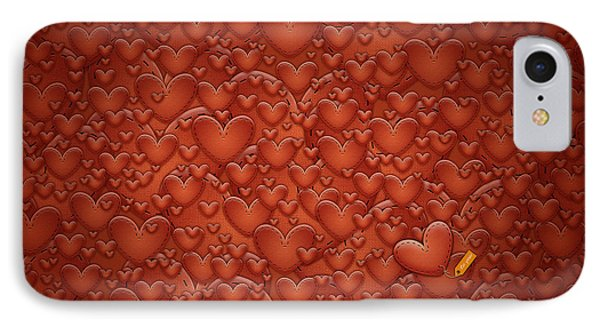 Love Patches Phone Case by Gianfranco Weiss