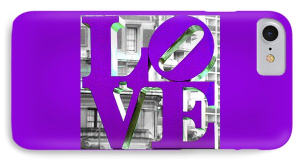 Love Philadelphia Purple IPhone Case
