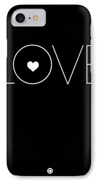 Love Poster Black IPhone Case by Naxart Studio