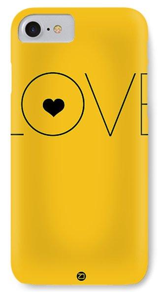 Love Poster Yellow IPhone Case by Naxart Studio