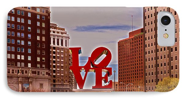 Love Sculpture - Philadelphia - 2 IPhone Case by Lou Ford