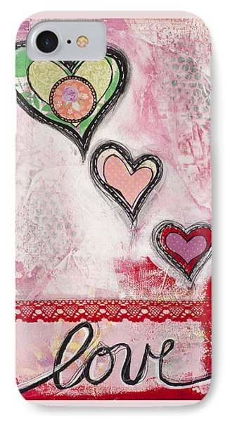 IPhone Case featuring the mixed media Love  by Stanka Vukelic