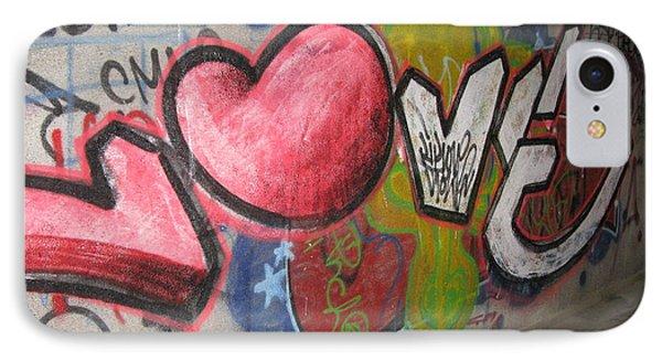 Love. Street Graffiti Phone Case by Ausra Huntington nee Paulauskaite
