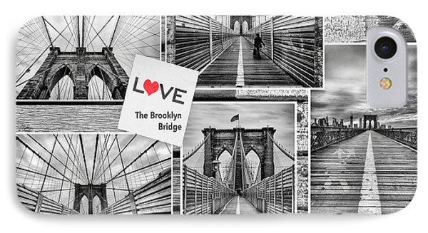 Love The Brooklyn Bridge Phone Case by John Farnan