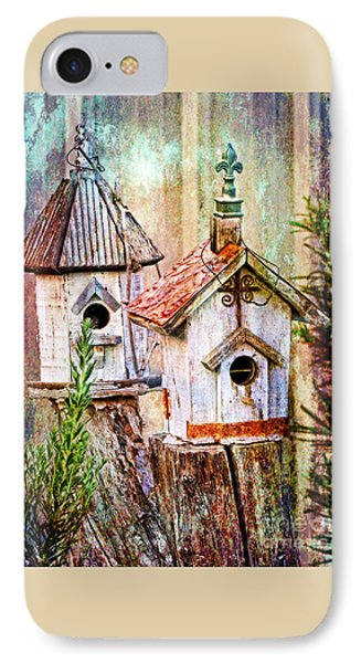 Love Thy Neighbor - Birdhouses IPhone Case by Ella Kaye Dickey