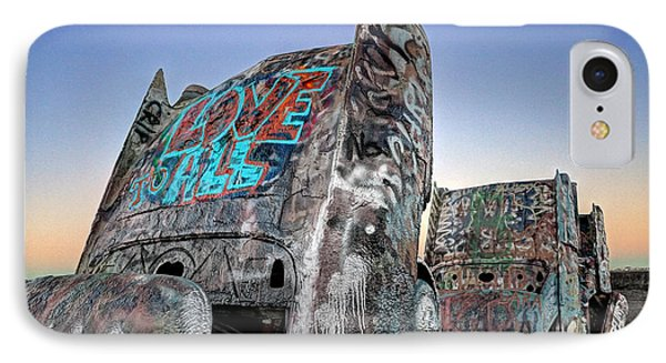 Love To All Cadillac Ranch IPhone Case by Martin Konopacki