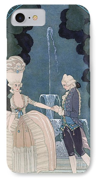 Love Under The Fountain Phone Case by Georges Barbier