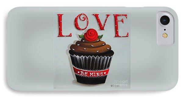 Love Valentine Cupcake Phone Case by Catherine Holman