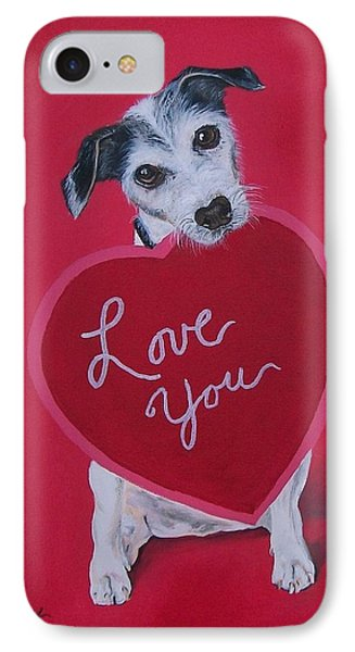 Love You Phone Case by Sharon Duguay