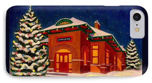 Loveland Depot At Christmas IPhone Case