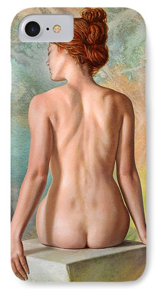 Lovely Back-becca In Abstract IPhone Case by Paul Krapf