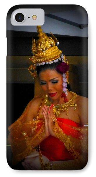 Lovely Balinese Dancer IPhone Case by Lori Seaman