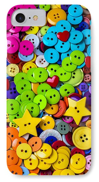 Lovely Buttons Phone Case by Garry Gay
