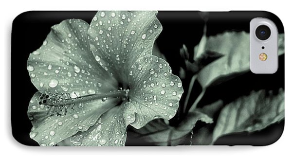 IPhone Case featuring the photograph Lovely Hibiscus In Monochrome by Beth Akerman