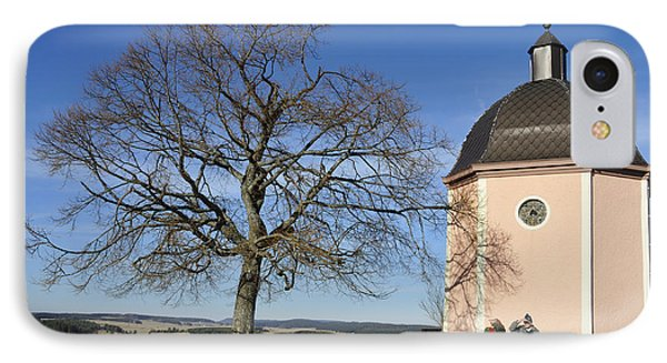 Lovely Little Chapel And A Tree Phone Case by Matthias Hauser