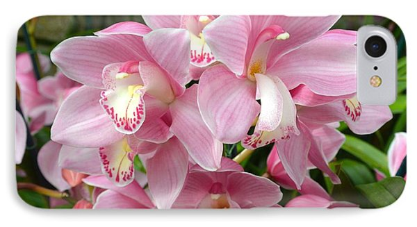 IPhone Case featuring the photograph Cymbidium Pink Orchids by Jeannie Rhode