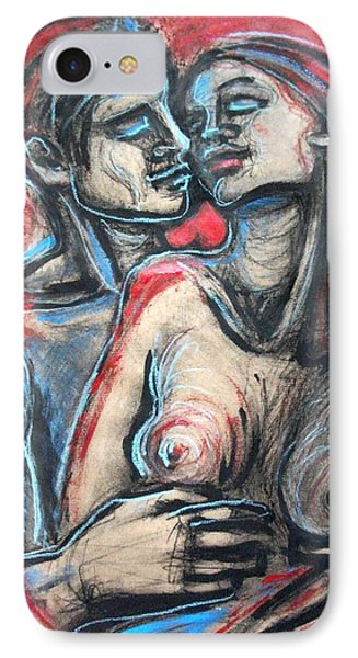 Lovers - In Your Arms Phone Case by Carmen Tyrrell