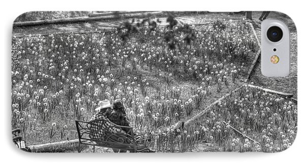 Lovers On Daffodil Hill IPhone Case