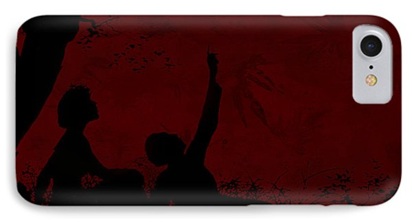IPhone Case featuring the photograph Lovers Under The Stars by Sandra Foster