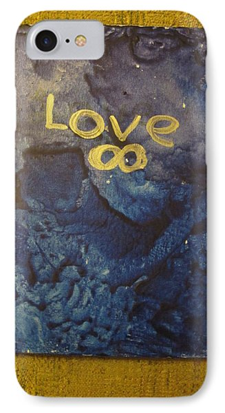 IPhone Case featuring the painting Loves Blue Mood by Lawrence Christopher