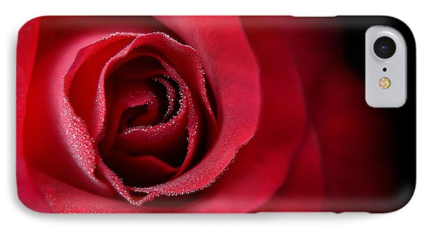 Love's Eternal Red Rose  Phone Case by Jennie Marie Schell