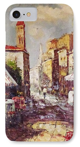 IPhone Case featuring the painting Loving Old Towns by AmaS Art