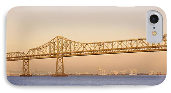 Low Angle View Of A Bridge, Bay Bridge IPhone Case by Panoramic Images