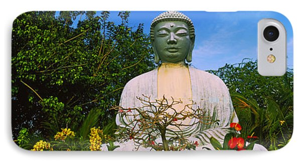 Low Angle View Of A Buddha Statue IPhone Case by Panoramic Images